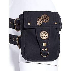 Women's Bags Canvas Fanny Pack Buttons Beading EmbellishedEmbroidered Plain 2021 Daily Outdoor Black