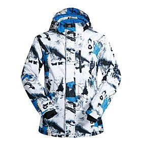 MUTUSNOW Men's Ski Jacket Skiing Snowboarding Winter Sports Waterproof Windproof Warm Polyester Jacket Ski Wear