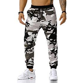 Men's Sports  Outdoors Pants Sportswear Street Causal Outdoor clothing Chinos Sweatpants Pants Camouflage Full Length Vintage Style Blue Orange Green / Spring