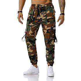 Men's Sports  Outdoors Sportswear Casual Cotton Loose Sports Outdoor Sports Outdoor clothing Tactical Cargo Pants Camouflage Full Length Classic Red Green Ligh