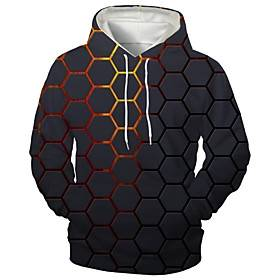 Men's Hoodie Graphic Hooded Daily Going out Sports  Outdoors Casual Hoodies Sweatshirts  Black