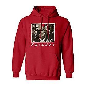 friends halloween michael jason penny - great horror movies men's hooded sweatshirt (red, xxxx-large)