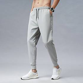 Men's Sports  Outdoors Daily Pants Pants Solid Colored Ankle-Length Black Gray