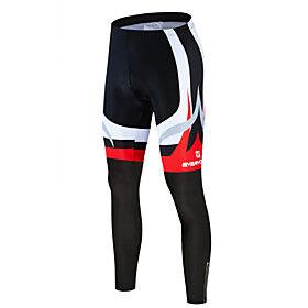 Men's Cycling Tights Bike Pants Bottoms Quick Dry Anatomic Design Sports Fleece Lycra Black / White Mountain Bike MTB Road Bike Cycling Clothing Apparel Advanc