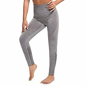 Gradient Color Yoga Clothing Fitness Sweatpants High Waist Trousers Tights M=US/6 Khaki