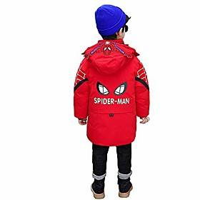 fashion spider man coat for boys toddler kids child winter padded hooded jacket clothes