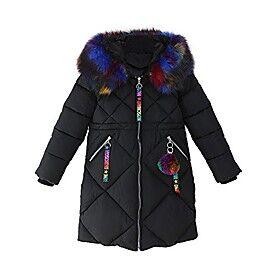 Girls Autumn Winter Jacket Cotton Coat Warm Outerwear Clothes Black Tag 130CM