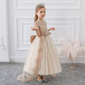 Girls Winter Dress Christmas White Red Children's Clothes Long Princess Party Wedding 10 12 Years Clothes