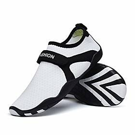 non-slip beach socks barefoot soft shoes snorkel shoes for men and women beach diving shoes running shoes, wading shoes, bathing shoes (color: white, size: 45-