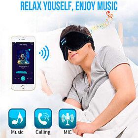 LITBest D3 Wireless Bluetooth v5.0 Headset Call Music Sleep Breathable Sleep Eye Mask Headphone