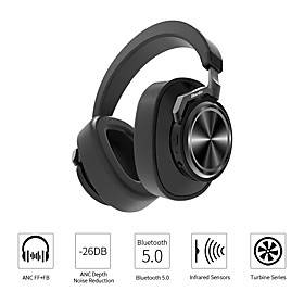 Bluedio T6S Wireless Bluetooth Headphones Active Noise Cancelling Voice Control Stereo Sound Headset With Mic For Phone Music