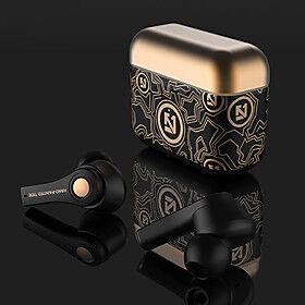 LITBest TWS Wireless Earbuds Gold Graffiti Bluetooth 5.0 Headphones Binaural Stereo Wireless Music Earphone Auto Pair