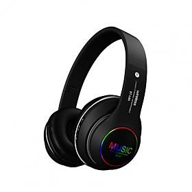 ST163 Colorful Flashing LED Light Wireless Bluetooth 5.0 Headphones Foldable Stereo Headset Support TF Card Music Play