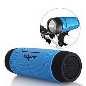 Zealot S1 Portable Bluetooth Speaker Wireless Bicycle Speakerfm Radio Outdoor Waterproof Boombox Support TF Card,AUX,Flashlight