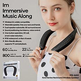 Remax RB-M42 True Wireless Speaker System Bluetooth Waterproof Outdoor APP Control Speaker For Mobile Phone