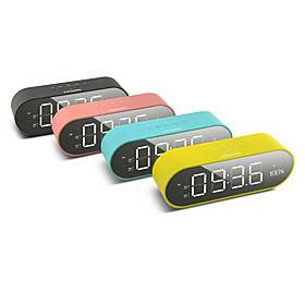 JY-69C Portable Wireless Bluetooth 5.0 Speakers With Digital Display Screen LED Alarm Clock Support FM Radio Function Aux TF Card Music Player For Office Home