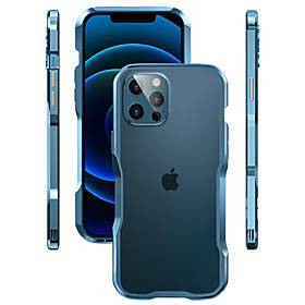 Apple Cool Metal Case For Apple iPhone 12/11/SE2020 Metal Border Shockproof Back Cover Solid Colored Fashion Metal Case for iPhone 12 Pro Max XR XS Max iPhone 8 Plus