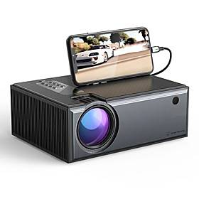 [Newest Version] WAZA W01-Pro LCD Projector 2800 Lumens Phone Same Screen Version Support 1080P Input Dolby Audio Wireless Portable Smart Home Theater Project