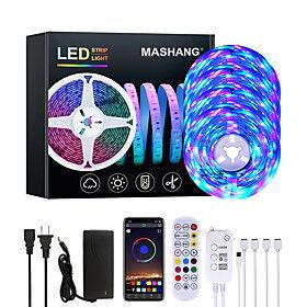 20M LED Strip Lights RGB LED Light Strip Music Sync 1080LEDs  LED Strip 2835 SMD Color Changing LED Strip Light Bluetooth Controller and 24 Key Remote LED Ligh