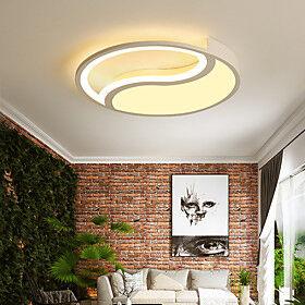 40/50 cm LED Ceiling Light Modern Basic White Geometric Shapes Living Room Bedroom Dining Room Flush Mount Lights Metal Painted Finishes 110-120V 220-240V