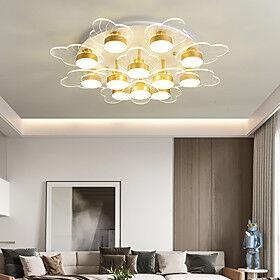 3/5/9/12 Heads LED Ceiling Light Modern Nordic Floral Design Flush Mount Lights Metal Living Room Bedroom Dining Room 110-120V 220-240V