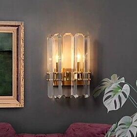 30cm LED Crystal Wall Light Modern Gold Bedside Lamp Porch Light Wall Sconces Corridor Living Room Bedroom Dining Room Steel Wall Light 110-120V 220-240V 5 W