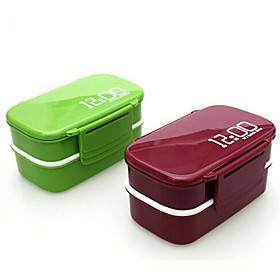 Kitchen Organization Lunch Box Plastic Easy to Use 1pc