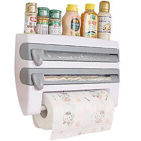 Preservative Film Cutter Kitchen Accessories Storage Rack Aluminum Foil Barbecue Paper Tissue Towel Holder Plastic Wrap Racks