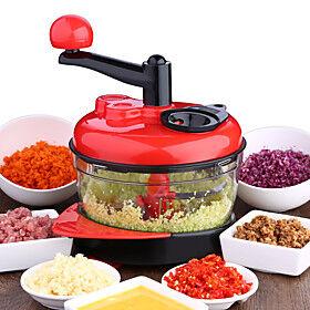 1500ml Vegetable Cutter Chopper Shredders Manual Meat Slicer Grinder Salad Maker Kitchen Tools 3 Speed Adjustable