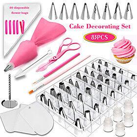 83Pcs Baking Set Set Cake Decorating Mouth Tool Fondant Coloring Pen Appliance Novice Household Cake Mold