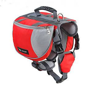 Dog Dog Pack Dog Backpack Dog Saddle Bag Waterproof Windproof Nylon Sports Outdoor Running Hiking Black Red Blue