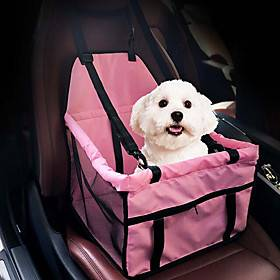 Portable / Foldable Dog Clothes Carrier  Travel Backpack / Car Seat Cover Solid Colored Gray / Pink Cat / Dog