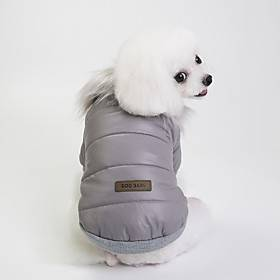 Dog Coat Puppy Clothes British Casual / Daily Warm Ups Outdoor Winter Dog Clothes Puppy Clothes Dog Outfits Red Blue Gray Costume for Girl and Boy Dog Terylene
