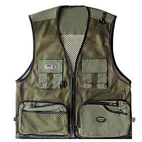 Men's Fishing Vest Vest / Gilet Lightweight Breathability Hunting Fishing Sports  Outdoor / Mesh