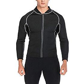 fut men sweat neoprene weight loss sauna suit workout shirt body shaper fitness jacket gym top clothes shapewear long sleeve