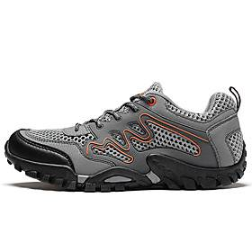 Unisex Hiking Shoes Sneakers Hiking Boots Anti-Slip Shock Absorption Breathable Hiking Running Team Sports Spring, Fall, Winter, Summer Black Blue Grey