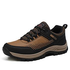 Men's Running Shoes Hiking Shoes Sneakers Anti-Slip Shock Absorption Breathable Wearable Hiking Outdoor Exercise Running Spring, Fall, Winter, Summer Black Arm