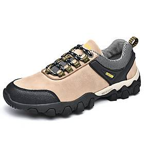 Men's Running Shoes Hiking Shoes Sneakers Anti-Slip Breathable Wearable Comfortable Hiking Outdoor Exercise Running Spring, Fall, Winter, Summer Black Khaki