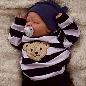 17.5 inch Reborn Doll Baby  Toddler Toy Baby Boy Reborn Baby Doll Saskia Newborn lifelike Hand Made Simulation Floppy Head Cloth Silicone Vinyl with Clothes an
