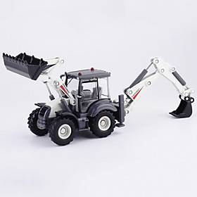 1:50 Alloy Excavator Toy Truck Construction Vehicle Pull Back Vehicle Simulation Music  Light All Kids Adults Car Toys