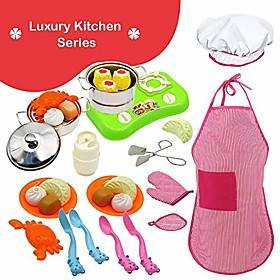 30pcs stainless steel mini kitchen toys kitchen pretend play accessories toys cooking utensils