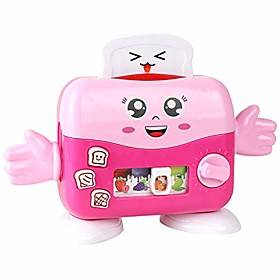 children kid boy girl mini kitchen electrical appliance bread machine toy set early education dummy household pretended play house gift (pink)