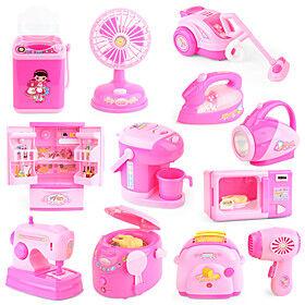 pretend kitchen toys small mini kitchen playset simulate housework home appliances educational toys set for girl 5 pcs (kitchen)