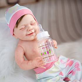 20 inch Reborn Doll Baby  Toddler Toy Baby Girl Reborn Baby Doll April Newborn lifelike Hand Made Simulation Cloth Silicone Vinyl with Clothes and Accessories