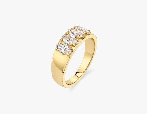 Vrai & Oro Marquise Diamond Tetrad - 14K Rose Gold   Ring  - Rose Gold - Size: 12