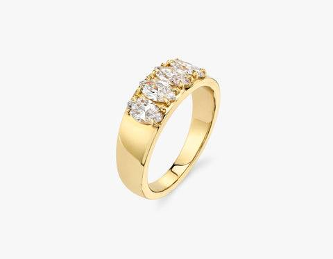 Vrai & Oro Marquise Diamond Tetrad - 14K Rose Gold   Ring  - Rose Gold - Size: 5.5
