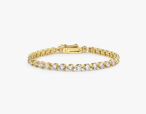 """Vrai & Oro Round Diamond Tennis Bracelet - Large - 14K White Gold   Bracelet  - White Gold - Size: 7"""" - 9.25ctw"""
