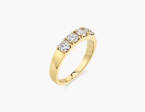 Vrai & Oro Round Diamond Tetrad - 14K White Gold   Ring  - White Gold - Size: 5