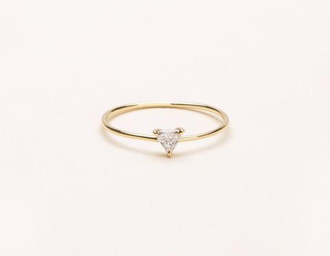 Vrai & Oro Trillion Diamond Ring - 14K Rose Gold   Ring  - Rose Gold - Size: 3.5