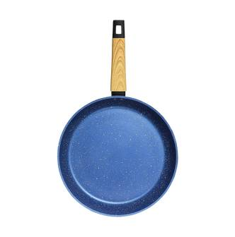 "Concord Art of Cooking 12"""" Granite Nonstick Coated Cast Aluminum Frying Pan Induction Compatible #Ocean Blue  - Size: 1"